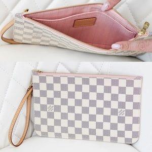 Louis Vuitton Damier Azur Pouchette Clutch
